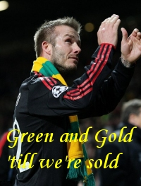 Green and Gold - Manchester United